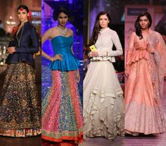 Add a twist to your lehengas with peplum blouses