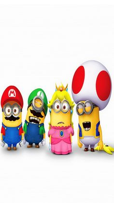 Customize your iPhone 5 with this high definition Mario Minions wallpaper from HD Phone Wallpapers! Iphone 5 Wallpaper, Batman Wallpaper, Cute Disney Wallpaper, Cute Minions, My Minion, Funny Minion, Wallpaper Gallery, Photo Wallpaper, Minion Characters
