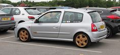 Modified Renault Clio RS at Cars & coffee Cheshire.