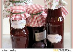 Chilli švestková omáčka recept - TopRecepty.cz Home Canning, Jam And Jelly, Food Gifts, Chutney, Sugar Free, Spices, Food And Drink, Cooking Recipes, Favorite Recipes