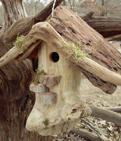 Driftwood birdhouse!! Etsy listing at https://www.etsy.com/listing/220578678/rustic-driftwood-birdhouse
