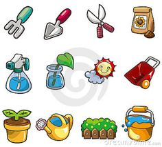 cartoon-gardening-icon-17964731.jpg (800×724)