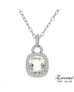 Product Name ZOCCAI Made In Italy Ladies Necklace Designed In 18K White Gold at Modnique.com