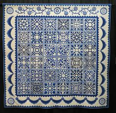 Sarah's Revival in Blue by Gail Smith, quilted by Karen McTavish