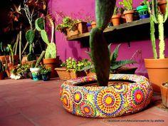 28 Reciclagem de pneus para jardim (Modelos e Ideias)