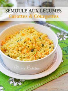 Venez découvrir cette fabuleuse recette de semoule aux légumes. Une douce association de courgettes et de carottes, une recette légère, rapide et toute simple, que tout le monde apprécie chez moi!