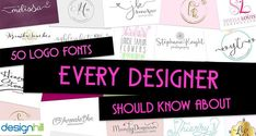 Fonts add personality to a logo design. A clever use of logo fonts can add value to the design in terms of delivering a brand message. There are some specially carved out fonts for logos. Here is a selected list of such fonts. Many of them are high quality fonts and available for free to the designers.