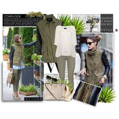 """""""Get the look of this khaki Parka and Olivia Palermo"""" by firstclass1 on Polyvore"""