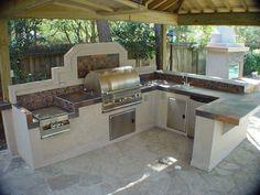 outdoor kitchen dimensions - google search | garden | pinterest ... - Outdoor Kitchen Patio Ideas