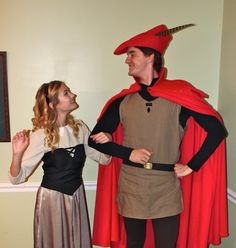 Briar Rose and Prince Phillip.  Disney's sleeping beauty costumes