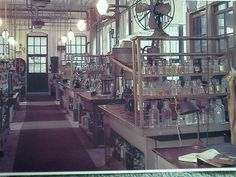 The Chemistry lab, building Alva Edison, Chemistry Labs, Creative Art, Art Projects, Fiction, Nerd, Industrial, Victorian, Inspirational