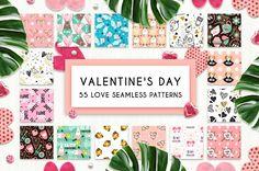 55 Love Seamless Patterns by JuliyArt on @creativemarket