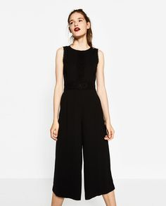 CROPPED JUMPSUIT-JUMPSUITS-WOMAN | ZARA United States