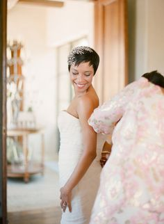 Short-haired bride cuteness. Style Me Pretty   GALLERY & INSPIRATION