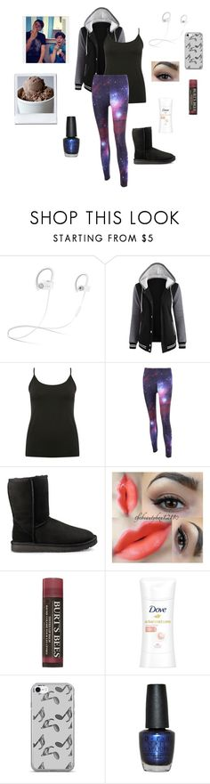 """""""Late Night Ice Cream Excursion With Dan & Phil~The Boy With The Cat Whiskers"""" by gravityfallsgirl33 ❤ liked on Polyvore featuring Beats by Dr. Dre, M&Co, UGG, Burt's Bees, Music Notes and OPI"""