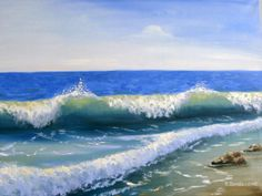 Original oil painting Sea Waves by InspirationSource on Etsy, $350.00