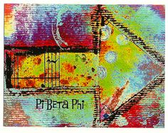 Pi Phi Arrow Postcards 4 of original art. by 3Heartwings on Etsy,