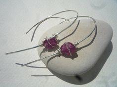 Sterling Silver  hoop earrings Hooped on hoop earrings Wire