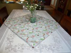 Winter Table Topper Winter Theme Centerpiece by SewWhatFabric