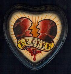 broken heart traditional tattoo - Google Search