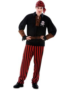 Disfraz de bucanero grumete pirata para hombre