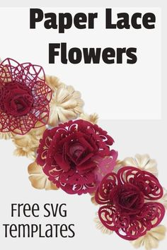 paper flower making, free svg and printable template