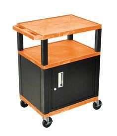 Elegant Av Cart with Locking Cabinet