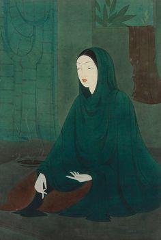 Abdur Rahman Chughtai -Guarded beauty
