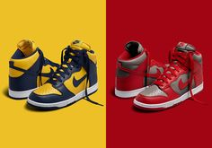 The Nike Dunk High Michigan And UNLV Will Both Release On SNKRS Tomorrow