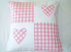 Unique Gift Ideas and Personalised Gifts Patchwork Heart, Patchwork Cushion, Quilted Pillow, Sewing Crafts, Sewing Projects, Heart Cushion, Applique Tutorial, Church Crafts, Valentine Decorations
