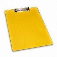 Yellow A4 Rectangular Clip Boards
