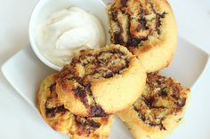 """""""Healthified"""" Cinnabons (two options) by Maria's Nutritious & Delicious Journal at MariaHealth.blogspot.com (low carb & gluten free)"""