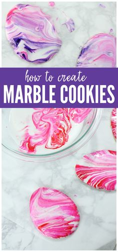 These super fun Marbleized Easter Cookies will be the BIGGEST hit of all the desserts at your Easter lunch. Learn How to Marbleize cookies and try this Easter Dessert! Everyone will love this Sugar Cookie Recipe!