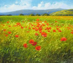 """G. Nesvadba """"Profusion of Poppies"""" http://www.artshopnc.com/component/content/article/318.html"""
