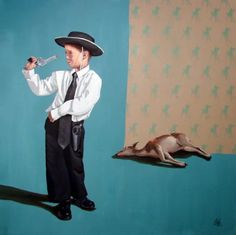 Brilliant Paintings by Oscar Gutiérrez (and I have the pleasure of working with him).