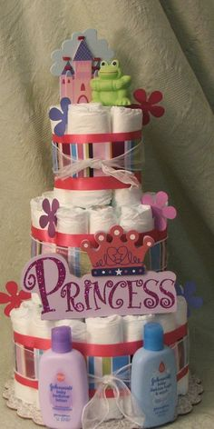 Another cute gift or center piece idea for baby shower
