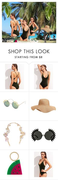 """""""Green swimwear"""" by kristina779 ❤ liked on Polyvore featuring Full Tilt and Old Navy"""