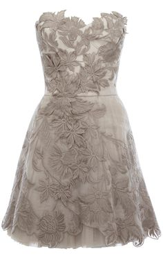 Romantic embroidery bridesmaids dress... Full length would be perfect