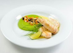 Sous-Vide Spiced and Roasted Haddock, with Cucumber Relish and Grilled Fennel - Sous-Vide Tools