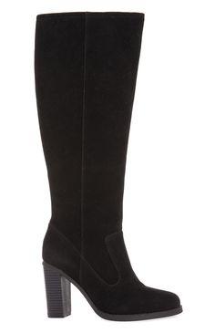 Primark - Bottes hauteur genou en daim noir