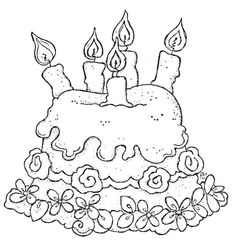 ..gâteau à 5 bougies - anniversaires