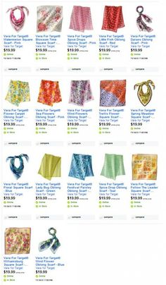 """17 New Vera Neumann Scarves from Target - good list to check when listing what you think is a """"Vintage"""" Vera!  #eBay"""