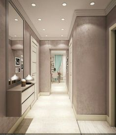 Super Ideas For Living Room Tv Wall Apartment Hallways Home Room Design, Home Interior Design, Living Room Designs, Interior Decorating, Corridor Design, Hallway Designs, Home Ceiling, Ceiling Design, Home Decor Kitchen