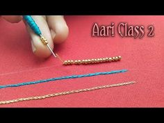 Hi Friends, In this video we will see about Aari work/Maggam work. This is my second class, this class I teach detail Aari Beads work. Four different bead wo. Hand Embroidery Videos, Tambour Embroidery, Embroidery Works, Creative Embroidery, Hand Embroidery Stitches, Hand Embroidery Designs, Zardosi Embroidery, Indian Embroidery, Magam Work Designs