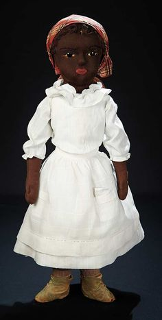 "bonhams doll auctions | ... "" Fine American Brown Stockinette Doll Known as Beecher-type, c. 1895"