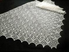 Wedding cream shawl. Lace knitted shawl. Cream white mohair