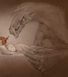 La dura vida de los muñecos durante la noche