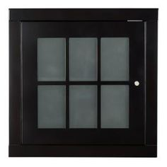 Home Decorators Collection Zen Stackable Cube with Glass Door in Espresso ZEEW1814 at The Home Depot - Mobile