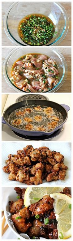 Asian Style Chicken Nuggets with Lemon Glaze - A fun twist on the traditional version with a sweet, tangy lemon glaze that is out of this w... (Chicken Cacciatore Lidia)