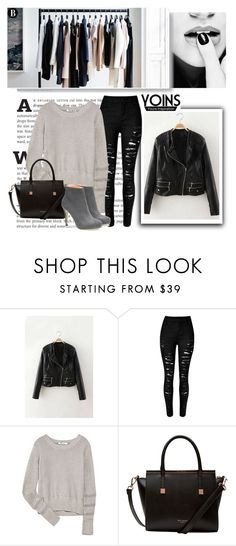 """""""Yoins jacket"""" by beenabloss ❤ liked on Polyvore featuring T By Alexander Wang, Ted Baker, women's clothing, women, female, woman, misses, juniors and yoins"""